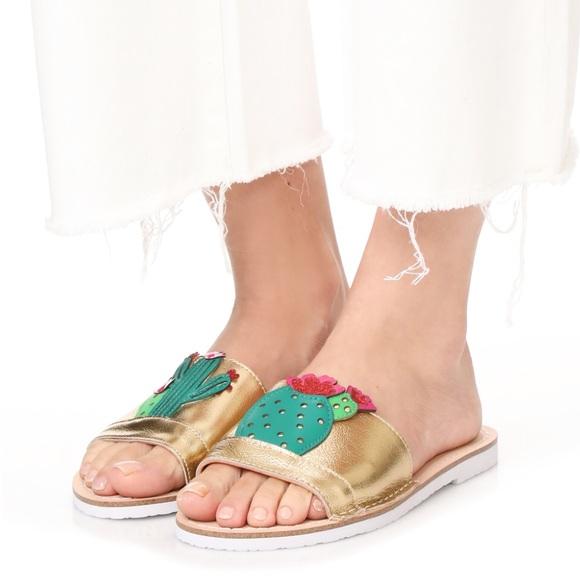 5809dfce09d9 Kate Spade Iguana Cactus Sandals Slides